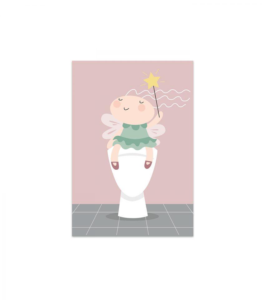 Älvan Alva går på toaletten