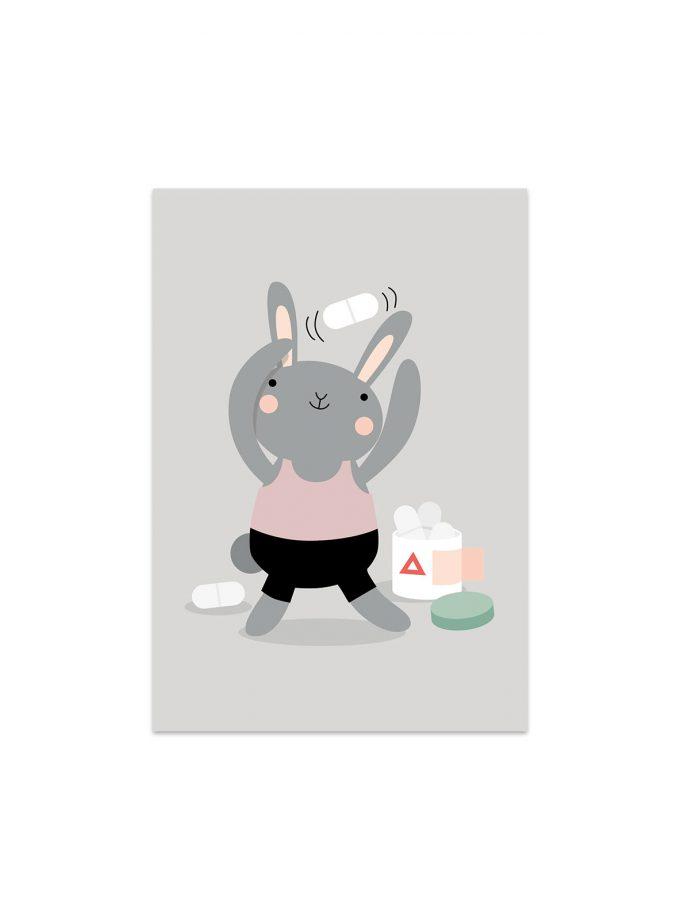 Kaninen Knut tar medicinen/vitaminerna